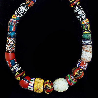 Antique Murano Trade Glass Beads String - Africa Venezia - 19th c. -  (0063)
