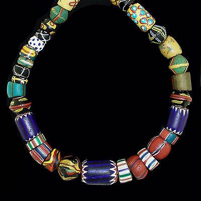 Antique Murano Trade Glass Beads String - Africa Venezia - 19th c. -  (0064)