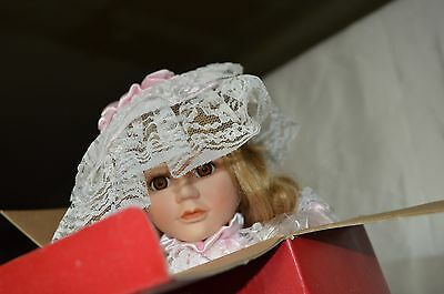 """1990 Porcelain Bisque Victorian Doll Regal Doll Collection Rare New In Box 16"""""""