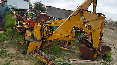 scoop and backhoe attachment for small tractor fair condition