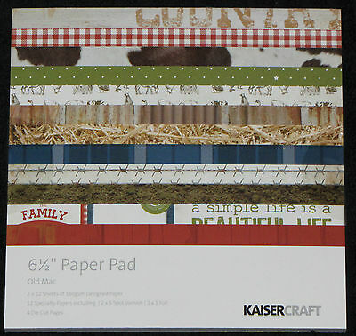 "Kaisercraft 'OLD MAC' 6.5"" Paper Pad Farm/Country/Outback/Rural/Horse KAISER"