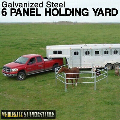 6 Panel Horse Float Holding Yard or temporary Round Yard - Portable