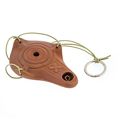 Pottery Oil Lamp - Quality Handmade Ancient Greek Style Replica - Brown