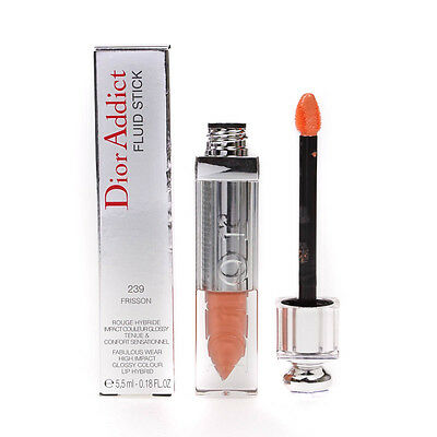 Dior Addict Fluid Stick High Impact Glossy Colour Coral Lipgloss Frisson No 239
