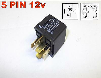 5 PIN 12v 40Amp AUTOMOTIVE CHANGEOVER RELAY CAR VAN RESISTER COIL ( 16 )