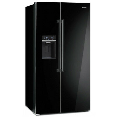 Smeg Sbs63Ned Frigo Side By Side A+ 90 Cm Nerolucido Display Touch No-Frost