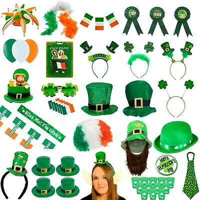 St Patricks Day Celebration Party Decoration & Hat Fancy Dress Props