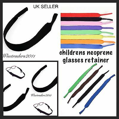 NEW Children's Neoprene Glasses Sunglasses Spectacle Head Strap Band Retainer uk