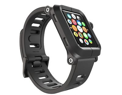 LUNATIK EPIK Polycarbonate Case and Silicone Band for Apple Watch 42mm-BLACK-41E