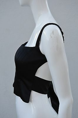 Richard Tyler 90's top blouse backless bra top tux vest corset size 2 MINT SEXY