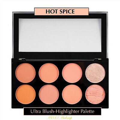 Makeup Revolution, HOT SPICE Pro Blush+Contour+Highlight-Palette-FREE SHIPPING