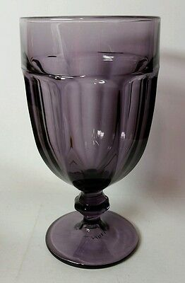 "Libbey ""gibraltar"" Violet/dark Purple 6 7/8"" Iced Tea Goblet(S) - Excellent"