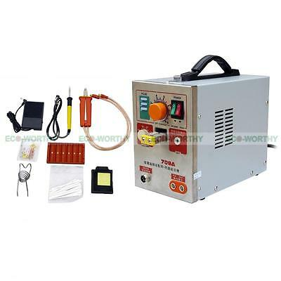 709A 1.9KW 60A LED Pulse Spot Welder Point Welding 18650 Battery Charger Tool