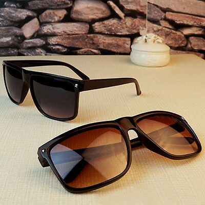 Vintage Retro Women's Men's Rivet Plastic Square Frame Classic Sunglasses Shades