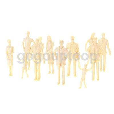 20 Unpainted Model Train People Figures mixed poses scenery layout 1:30 G