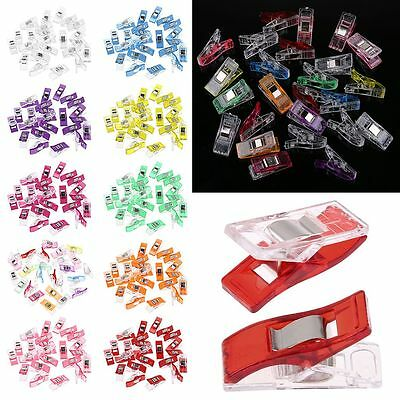 50/100pcs Wonder Clips For Fabric Quilting Craft Sewing Knitting Crochet DIY UK