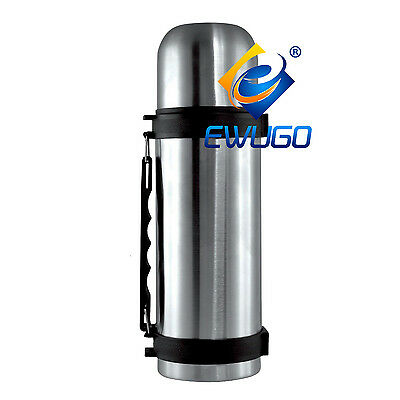 New Travel Mug 1.0 Litre HOT & COLD Stainless Steel Vacuum Thermos Bullet Flask