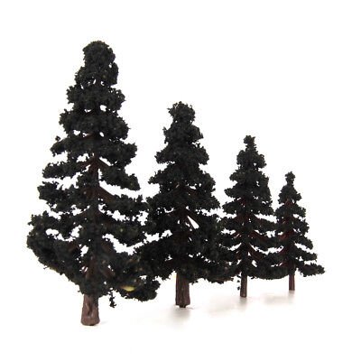 16 Mixed Scale Model Pine Trees Diorama Train Railroad Architecture Scenery