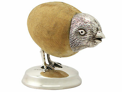Antique Sterling Silver 'Chick' Pin Cushion - Edwardian