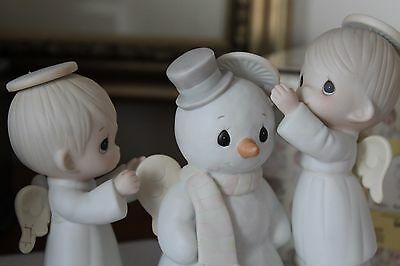 "Precious Moments Figurine ""Halo, And Merry Christmas"" - Flower Mark"