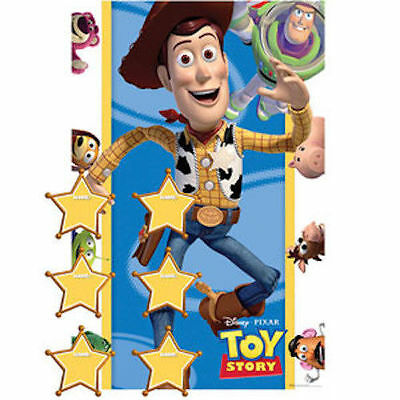 Disney Toy Story Pin The Badge Sheriff Woody Buzz Boys Birthday Party Games Game