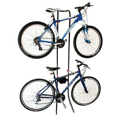Gravity Bicycle Rack Holds 2x Bikes Adjustable Storage Stand Bike Cycle
