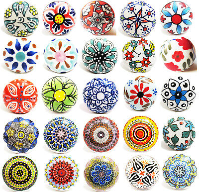Ceramic Door Knobs -Kitchen Home Furniture Cabinet Cupboard Drawer Pull Handle