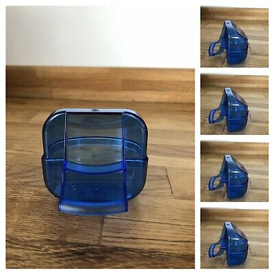 5 x Blue Seed Feeder HOPPERS FOR BIRD CAGE FRONTS CANARIES, FINCHES etc