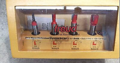 "NEW Freud 89-650 4 Piece Undersized Plywood Bit Set (1/2"" Shank)  ~FREE SHIPPING"