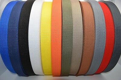 Polypropylene Webbing Strap/Tape 20mm,25mm,30mm,40mm,50mm Choice of Colours