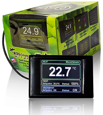 Microclimate EVO Digital Touch Screen LCD Vivarium thermostat Reptile Prime Stat