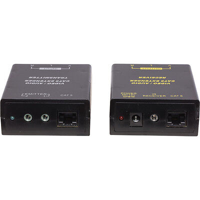 Pro 2 COMPOSITE VIDEO CAT5 EXTENDER STEREO AUDIO WITH IR RETURN INC 20M  CABLE