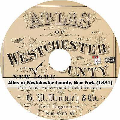 1881 Atlas of Westchester County, New York - NY History Plat Maps Book on CD