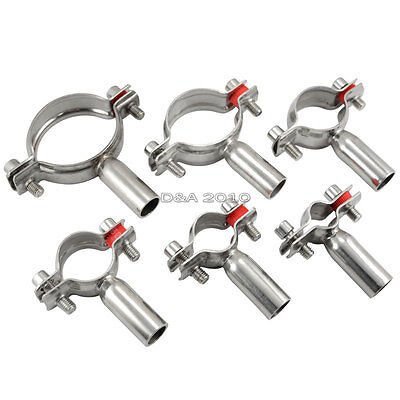 """32MM 1-1/4"""" 1.25"""" Sanitary Bracket Pipe Fitting Ajustable Clamp SS316"""