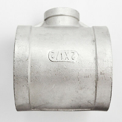 """2""""X1/2""""X2"""" Female Tee Threaded Reducer Pipe Fitting Stainless Steel 304 NPT"""