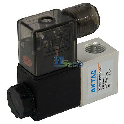 """1/4"""" NPT 2 way 2position AC 110V Pneumatic Electric Solenoid Valve Water Air Oil"""
