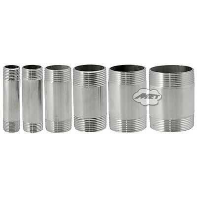 """1-1/2"""" DN40 Male Threaded Stainless Steel SS 304 Pipe Fittings 75MM Length NPT"""