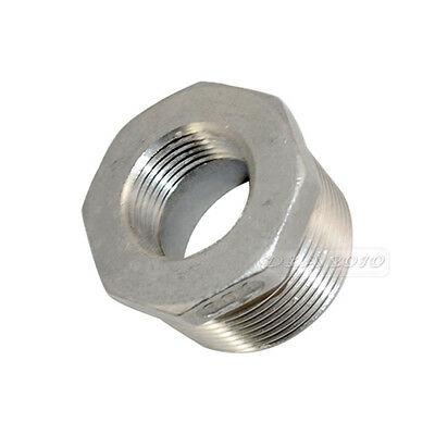 """1-1/4"""" Male x 3/4"""" Female Threaded Reducer Bushing Pipe Fitting SS 304 NPT NEW"""