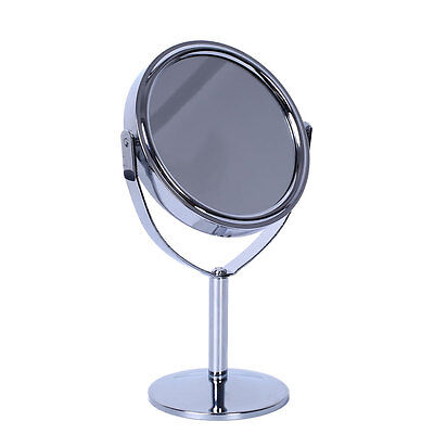 Cosmetic Women Makeup Round Double-Side Normal Magnifying Stand Mirror