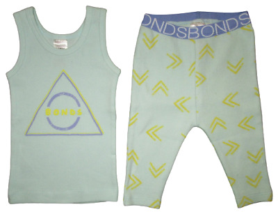 Baby Boys Bonds Tank Leggings 2 Piece Set Top Pants Outfit Toddler 000 00 0 1