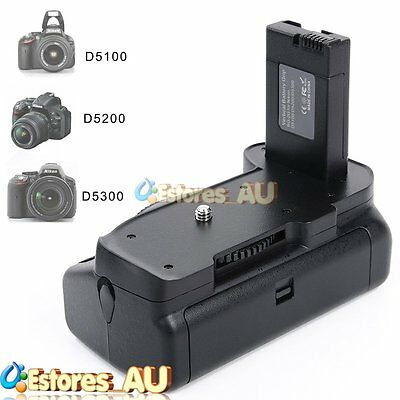 【AU】Multi-Power Vertical Battery Grip Holder Pack For Nikon D5100 D5200 D5300