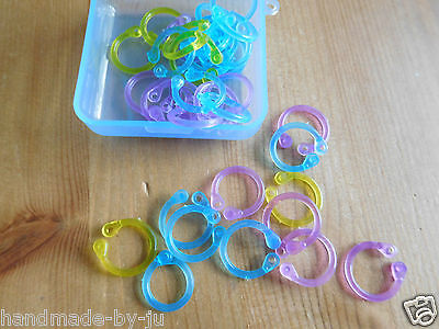 locking Stitch and row markers boye 35 pieces with case fit up to 10mm needles