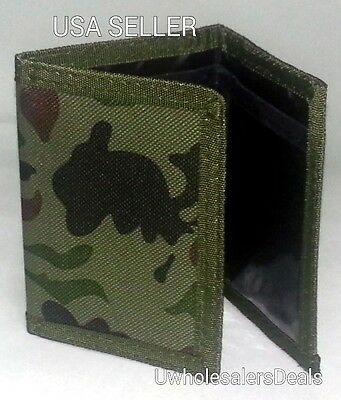 Tri-fold Camouflage Men's Wallet ARMY Camo Wallet - NEW