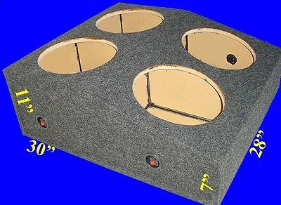 """Ford Mustang 1995-2003 10"""" 4 Hole Up-Fire Grey Subwoofer Sub Enclosure Box"""
