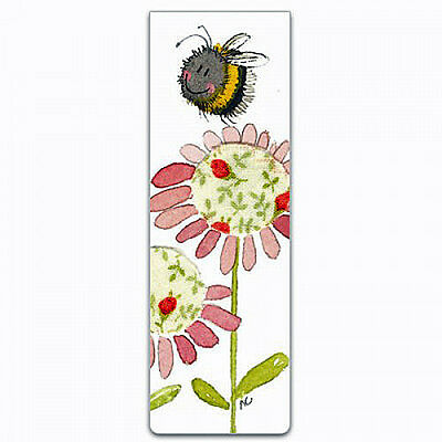 Small Magnetic Bookmark Bee & Flower Alex Clark Mother's Day / Easter Gift