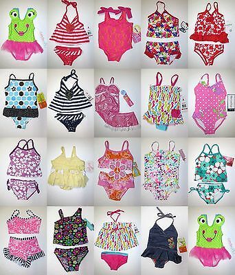 NWT Baby Toddler Girl 1 2 Piece Swimsuit Swimwear Bathing Suit 3-6 6 12 18 24 2T