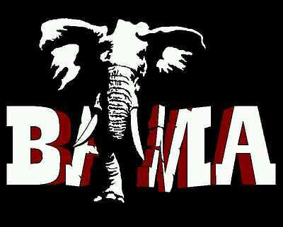 "2 Color Bama ""Big Al"" Crimson Tide Alabama Roll Tide Vinyl Decal Window Sticker"