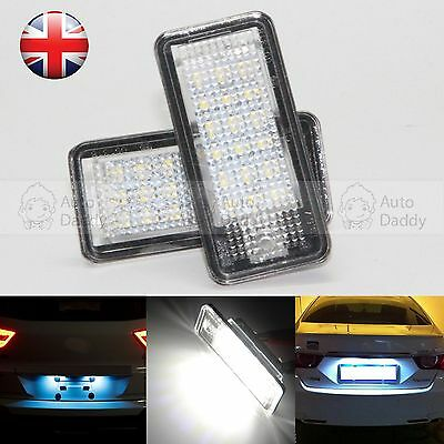 2X 18 LED License Number Plate Light Lamp For Audi A8 Q7 A3 S3 A4 S4 B6 B7 A6 S6