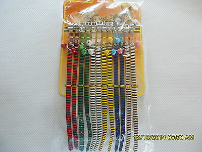 Collar Small Adjustable Bell Pet Dog Cat Puppy Tag Neck Strap Animal Collars S