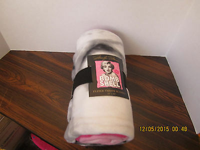 "MARILYN MONROE BOMBSHELL  50"" x 60"" Soft Fleece Throw Blanket  NEW"